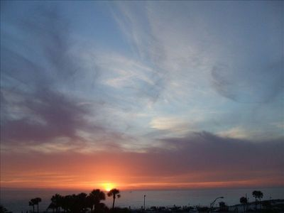 Sunsets over the Gulf from your balcony and picture window. A nightly ritual!
