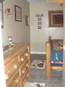 Master bedroom- log room