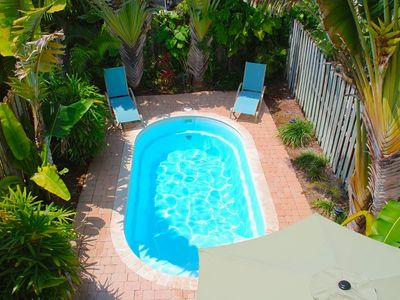 Private Rear Yard Offering Heated Pool, Dining & Lounge Area...
