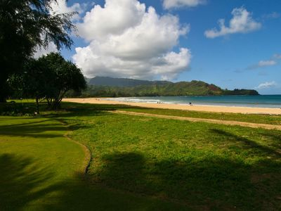 About 1 minute Walk to Pavilions Beach Park Access...EASY WALK to Hanalei Bay
