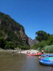 White water rafting in Glenwood Canyon, 45 minutes away,