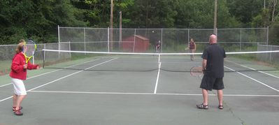 Tennis, anyone? park is 10 minute walk from the house.