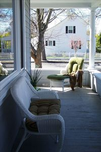 Enjoy morning coffee and a good book on the wrap-around porch