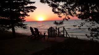 Manistee house photo - Sunset over Lake Michigan