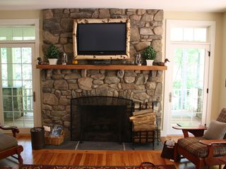 Buck Hill Falls house photo - Fireplace in Great Room