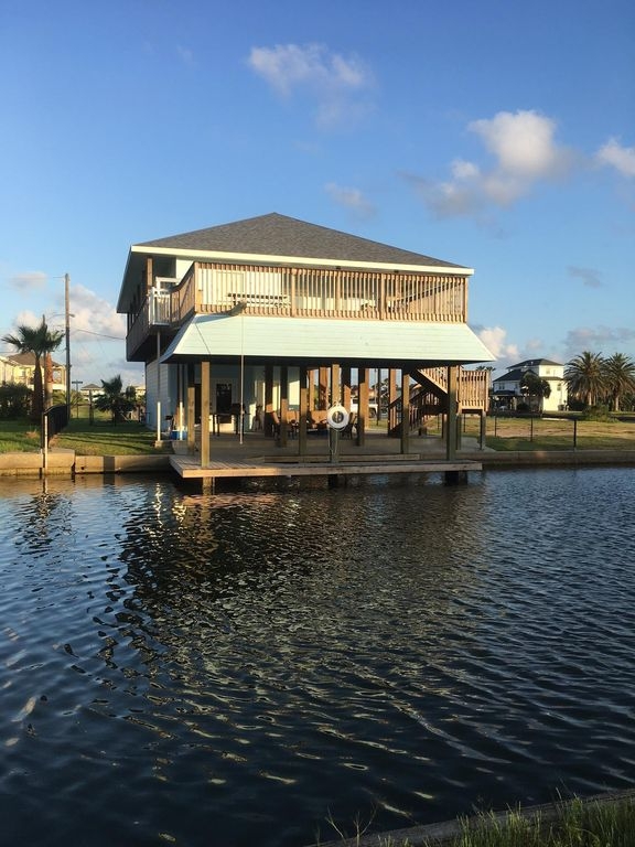 Fish off your own private dock with bay view at Bay Breeze.