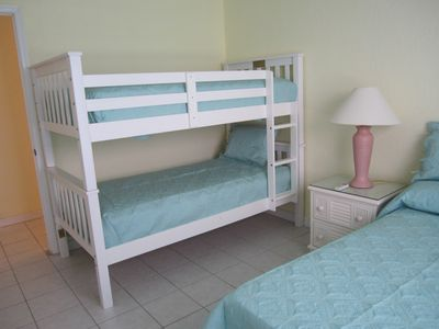 Twin Bunk Beds in Second Bedroom