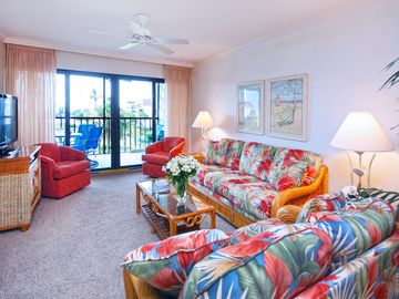 Sanibel Island condo rental - Living room with a view