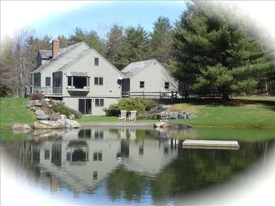 House and Pond in Spring