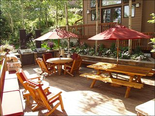 Snowmass Village house photo - Outdoor patio with BBQ Grills