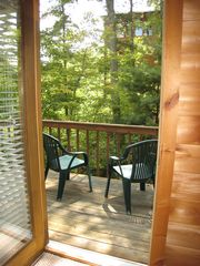 Gatlinburg cabin photo - Private balcony off the upstairs bedroom.
