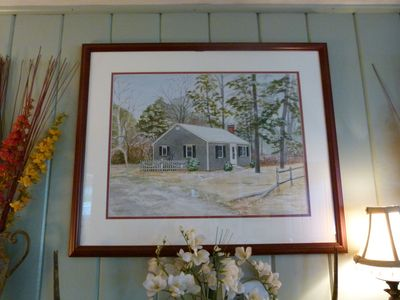 Dennisport cottage rental - Commissioned Watercolor of the Cottage