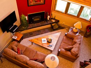 Taos Ski Valley condo photo - Living area with fireplace!