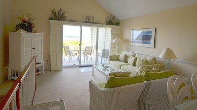 Reverse floor plan offers great views from the upstairs living area and kitchen