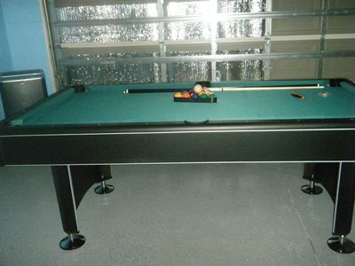 Basketball, foosball and air hockey are also located in the game room