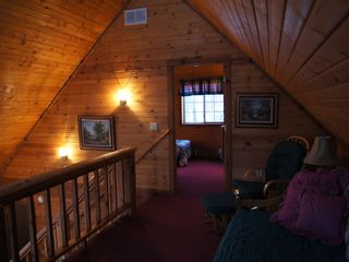 Wisconsin Dells cabin photo - loft at dusk