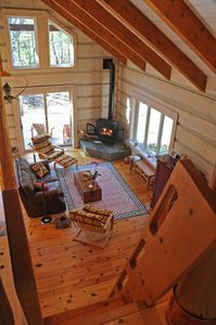 Climb the ship ladder to the quiet spaces of the loft, commanding a grand view