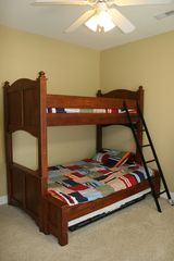 North Ocean City townhome photo - Bedroom with Pyramid Bunk Bed and Single Trundle