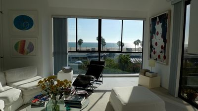 Ocean View From Living Room.