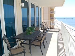 Gulf Shores condo photo - Balcony, looking east