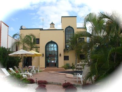 Puerto Morelos house rental - Front of Villa Encantamar