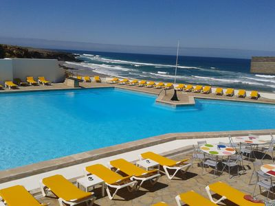 Arriba Ocean Pool at Guincho beach. Ask us for special entrance fee.