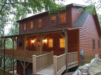 Seven Devils cabin rental - Let the warm lights in the cabin welcome you home!