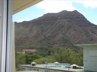 View of diamond head from living room