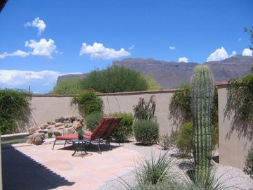 Backyard with panoramic mountain view.