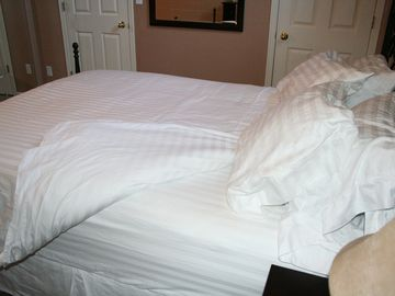 5 STAR LINENS, AWAIT, SO INVITING, SURE TO MAKE YOU FEEL AT HOME!
