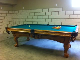Gorgeous 8 ft pool table in the basement - Montgomery Estates house vacation rental photo