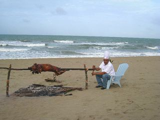 Cabarete villa photo - One of Our Famous Villa Leone Pig Roasts