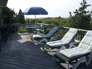 Wellfleet house photo - Partial view of deck
