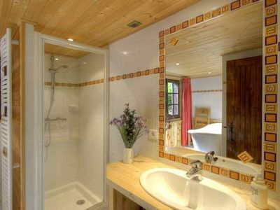 Lovely modern bathrooms throughout
