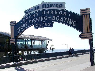 Santa Monica apartment rental - Entrance to World Famous Santa Monica Pier
