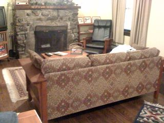 Seven Springs cabin photo - Living room mission style furnishings