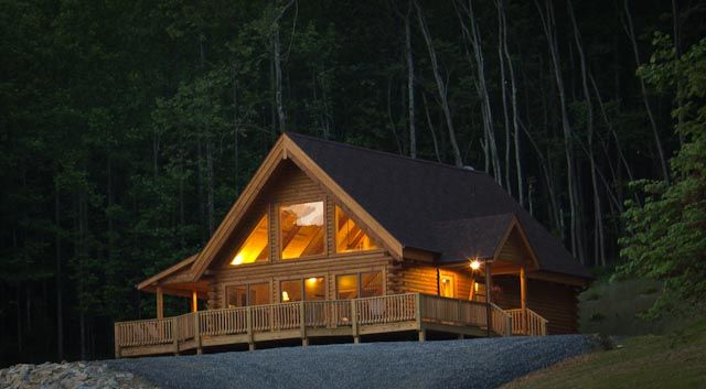 Meadow view cabin a new deluxe log home near vrbo for Cabin cabin vicino a lexington va