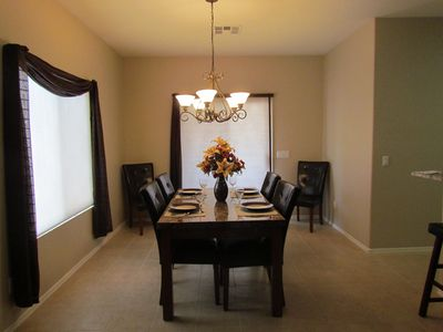 Dining Room with slider to covered patio.