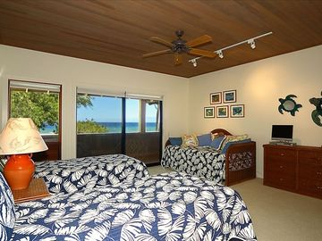 Turtle Room: Sleeps 4 singles or twins can become a King bed. Private bathroom.