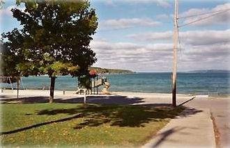 The Beach at Crystal Lake-One Block Down Prospect Street