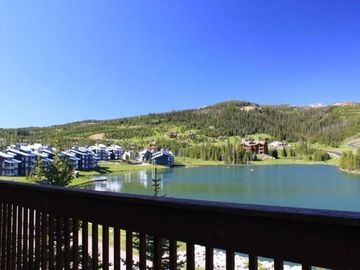 Big Sky townhome rental - Summer View from Deck