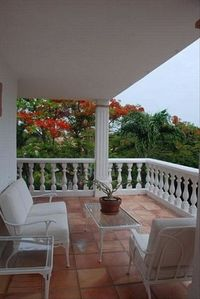 There are several quiet private terrace / porches to relax with a good book