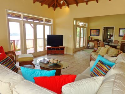 Open all the doors to enjoy a soft breeze & indoor/outdoor living on the ocean.