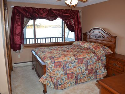 Upstairs Bedroom overlooking the lake.