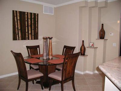The dining area is ready if  you decide to eat in, if you choose to do so.