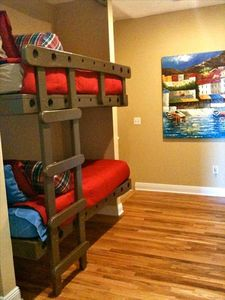Bunk beds - perfect for kids! - located on the 2nd floor