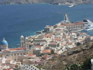 Syros apartment photo - Sightseeing: A view of the Vaporia section of Hermoupolis