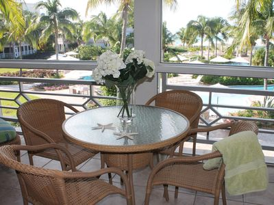 Providenciales - Provo condo rental - Screened in patio