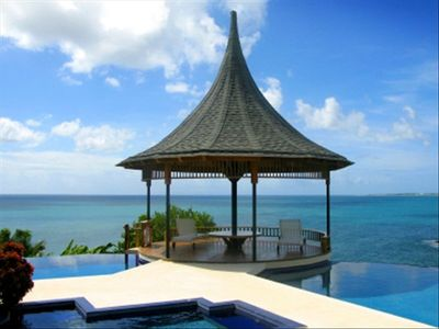 Tobago villa rental - View of Gazebo with Shallow and Deep Pool