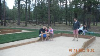 Black Butte Ranch house photo - Bocce Ball Courts, Horseshoes, Pickleball and Basketball, located behind house.